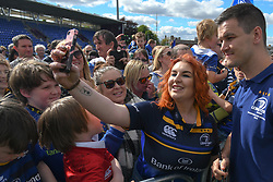 May 13, 2018 - Dublin, Ireland - Leinster's Jonathan Sexton poses for a selfie with fans during the homecoming ceremony at Energia Park, Donnybrook, following their victory in the European Champions Cup Final in Bilbao, Spain..On Sunday, May 13, 2018, in Donnybrook, Dublin, Ireland. (Credit Image: © Artur Widak/NurPhoto via ZUMA Press)