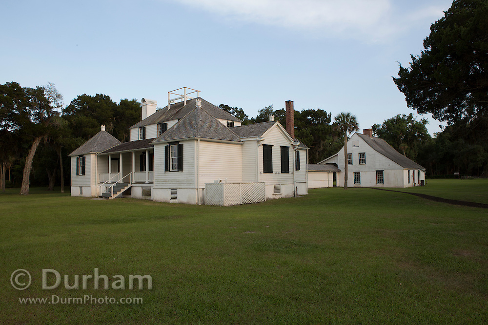 The planter's home at Kingsley Plantation overlooking the Fort George River. Part of the Timucuan Ecological and Historic Preserve, Florida.