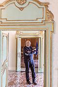 GANGI, SICILY, the Major Francesco MIgliazzo at Palalzzo Comunale Bongiorno