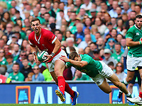 Rugby Union - 2019 pre-Rugby World Cup warm-up (Guinness Summer Series) - Ireland vs. Wales<br /> <br /> George North (Wales) is tackled by Garry Ringrose (Ireland) at The Aviva Stadium.<br /> <br /> COLORSPORT/KEN SUTTON