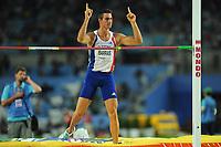 ATHLETICS - IAAF WORLD CHAMPIONSHIPS 2011 - DAEGU (KOR) - DAY 1 - 27/08/2011 - PHOTO : STEPHANE KEMPINAIRE / KMSP / DPPI -<br />  HIGH JUMP - MEN - DECATHLON - ROMAIN BARRAS (FRA)