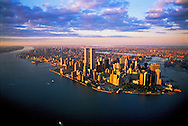 Aerial view of New York City, Lower Manhattan, USA