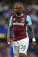 Andre Ayew of West Ham United looks on. Premier league match, Chelsea v West Ham United at Stamford Bridge in London on Monday 15th August 2016.<br /> pic by John Patrick Fletcher, Andrew Orchard sports photography.