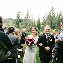 A destination wedding in Lake Tahoe, California.