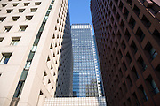 close up of modern high rise office buildings in Tokyo Marunouchi district