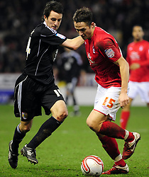 Bristol City's Cole Skuse Battles for the ball with Nottingham Forest's Chris Cohen  - Photo mandatory by-line: Matt Bunn/JMP - 25/01/2011 - SPORT - FOOTBALL - npower championship-Nottingham Forest v Bristol city-City Ground-Nottingham