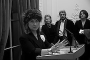 BARONESS HELENA KENNEDY QC, Vanity Fair, Baroness Helena Kennedy QC and Henry Porter launch ' The Convention on Modern Liberty'. The Foreign Press Association. Carlton House Terrace. London. 15 January 2009 *** Local Caption *** -DO NOT ARCHIVE-© Copyright Photograph by Dafydd Jones. 248 Clapham Rd. London SW9 0PZ. Tel 0207 820 0771. www.dafjones.com.<br /> BARONESS HELENA KENNEDY QC, Vanity Fair, Baroness Helena Kennedy QC and Henry Porter launch ' The Convention on Modern Liberty'. The Foreign Press Association. Carlton House Terrace. London. 15 January 2009