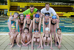 Coaches Anze Sladoje and Tine Pecaver and Swimmers of PK Ilirija, on March 24, 2009, in Tivoli, Ljubljana, Slovenia. (Photo by Vid Ponikvar / Sportida)