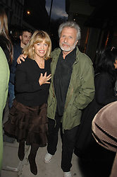 Fashion designer EDINA RONAY and her husband MR DICK POLAK at an exhibition of paintings by artist Rene Richard at the Scream Gallery, Bruton Street, London on 3rd April 2008.<br /><br />NON EXCLUSIVE - WORLD RIGHTS