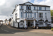 Swan Hotel in Abergavenny, Monmouthshire, South Wales, UK