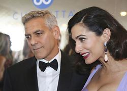 September 2, 2017 - Venice, California, Italy - George and Amal Clooney at the Venice Film Festival (Credit Image: © Armando Gallo via ZUMA Studio)