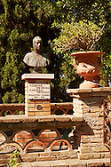 Statue of Florence Trevelyan her Gardens in Taormina Italy, also known as, the Giardino Trevelyan and the Parco Duchi di Cesarò. .<br /> <br /> Visit our SICILY PHOTO COLLECTIONS for more   photos  to download or buy as prints https://funkystock.photoshelter.com/gallery-collection/2b-Pictures-Images-of-Sicily-Photos-of-Sicilian-Historic-Landmark-Sites/C0000qAkj8TXCzro