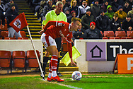 Cauley Woodrow of Barnsley (9) in action during the EFL Sky Bet League 1 match between Barnsley and Sunderland at Oakwell, Barnsley, England on 12 March 2019.