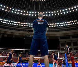 06-10-2018 JPN: World Championship Volleyball Women day 7, Nagoya<br /> Press conference coaches group Nagoya after training day for Netherlands and Brazil / Coach Jamie Morrison