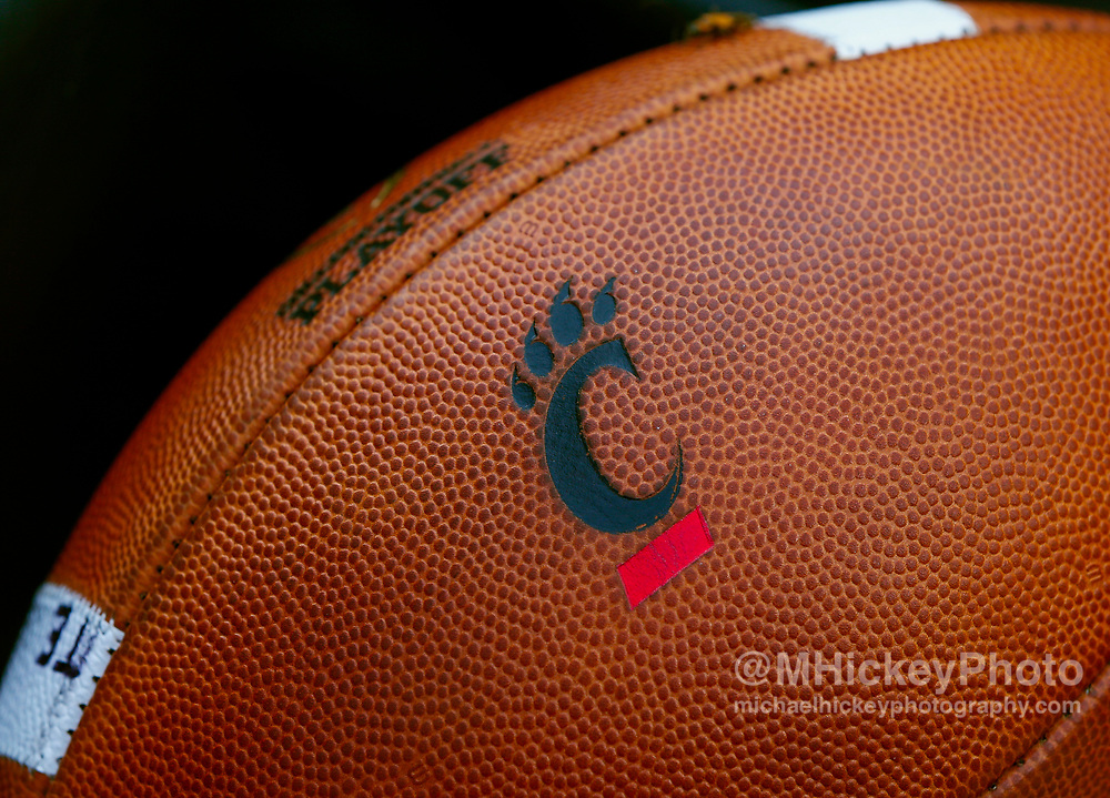 CINCINNATI, OH - AUGUST 31: A Cincinnati Bearcats football is seen during the game against the Austin Peay Governors at Nippert Stadium on August 31, 2017 in Cincinnati, Ohio. (Photo by Michael Hickey/Getty Images)