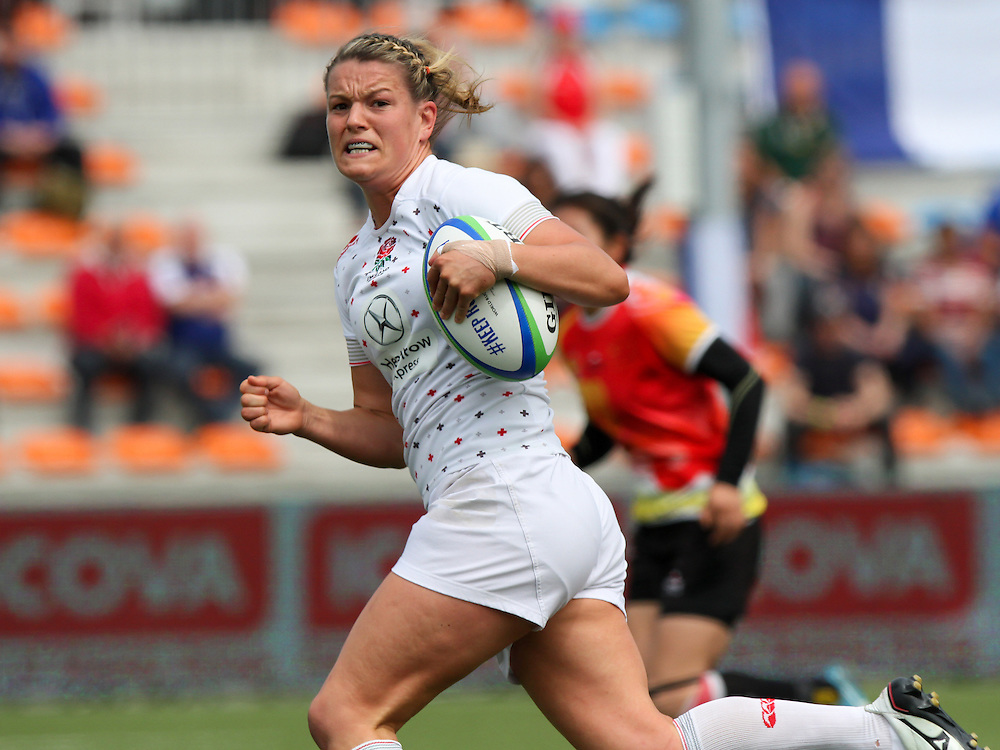 Abi Chamberlain in action for England, Women's Sevens World Series - Amsterdam Leg, NRCA, Amsterdam, Netherlands, Day 1 on 22nd May 2015.