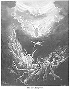 The Last Judgment [Revelation 20:12] From the book 'Bible Gallery' Illustrated by Gustave Dore with Memoir of Dore and Descriptive Letter-press by Talbot W. Chambers D.D. Published by Cassell & Company Limited in London and simultaneously by Mame in Tours, France in 1866