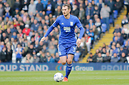 Birmingham City defender Jonathan Grounds (3) during the EFL Sky Bet Championship match between Birmingham City and Burton Albion at St Andrews, Birmingham, England on 17 April 2017. Photo by Richard Holmes.