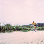 Most of the race is held on gravel alongside the wine yards. On May 27, 2018 the second edition od the Eroica went of, the Eroica is a bicycle race where only bikes berore 1985 can partecipate. Cyclists must wear vintage cloths and the road are often on gravel. It's a non competitive race, but fatigue and sweat are real. Federico Scoppa