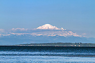 Mount Baker (Kulshan) from Centennial Beach in Tsawwasen, British Columbia, Canada