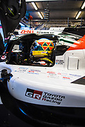 June 10-16, 2019: 24 hours of Le Mans. 7 Mike Conway, Toyota Gazoo Racing, TOYOTA TS050 - HYBRID , morning warmup