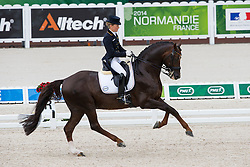 Helen Langehanenberg, (GER), Damon Hill NRW - Grand Prix Team Competition Dressage - Alltech FEI World Equestrian Games™ 2014 - Normandy, France.<br /> © Hippo Foto Team - Leanjo de Koster<br /> 25/06/14