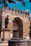 SPAIN, ANDALUSIA, CORDOBA Almodovar Gate, Seneca statue