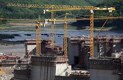 The Sayaboury Mekong mainstream hydro power dam construction, Sayaboury Province, Lao PDR.