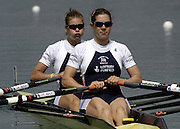 2005 FISA Rowing World Cup Munich,GERMANY. 18.06.2005; GBR W2X  Bow. Elise Laverick and Annie Vernon.Photo  Peter Spurrier. .email images@intersport-images...[Mandatory Credit Peter Spurrier/ Intersport Images] Rowing Course, Olympic Regatta Rowing Course, Munich, GERMANY