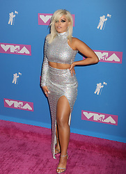 August 20, 2018 - New York City, New York, U.S. - Singer BEBE REXHA attends the arrivals for the 2018 MTV 'VMAS' held at Radio City Music Hall. (Credit Image: © Nancy Kaszerman via ZUMA Wire)