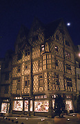 Old town Maison d'Adam, half timbered house. Angers, Loire, France