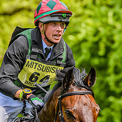 David Britnell Badminton Horse trials Gloucester England UK May 2019, David Britnell equestrian eventing representing Great Britain riding Continuity in the Badminton horse trials 2019 Badminton Horse trials 2019 Winner Piggy French wins the title