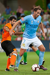 January 11, 2019 - Melbourne, VIC, U.S. - MELBOURNE, VIC - JANUARY 11: Melbourne City midfielder Rostyn Griffiths (7) competes for the ball at the Hyundai A-League Round 13 soccer match between Melbourne City FC and Brisbane Roar FC at AAMI Park in VIC, Australia 11th January 2019. (Photo by Speed Media/Icon Sportswire) (Credit Image: © Speed Media/Icon SMI via ZUMA Press)