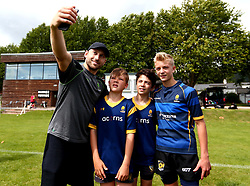 Chris Pennell of Worcester Warriors poses for a selfie as  Worcester Warriors host a summer holiday rugby camp at Malvern College - Mandatory by-line: Robbie Stephenson/JMP - 16/08/2017 - RUGBY - Malvern College - Worcester, England - Worcester Warriors - Malvern Rugby Camp