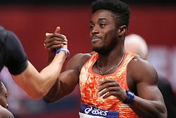 February 7, 2018 - Paris, Ile-de-France, France - Gue Arthur Cisse of Ivory Coast wins the 60m during the Athletics Indoor Meeting of Paris 2018, at AccorHotels Arena (Bercy) in Paris, France on February 7, 2018. (Credit Image: © Michel Stoupak/NurPhoto via ZUMA Press)