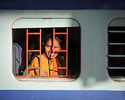 Woman on a Train - Nampally, Hyderabad, India