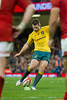 Rugby Union - 2017 Under Armour Series (Autumn Internationals) - Wales vs. Australia<br /> <br /> Bernard Foley  of Australia kicks a conversion, at The Principality Stadium (Millennium Stadium).<br /> <br /> COLORSPORT/WINSTON BYNORTH