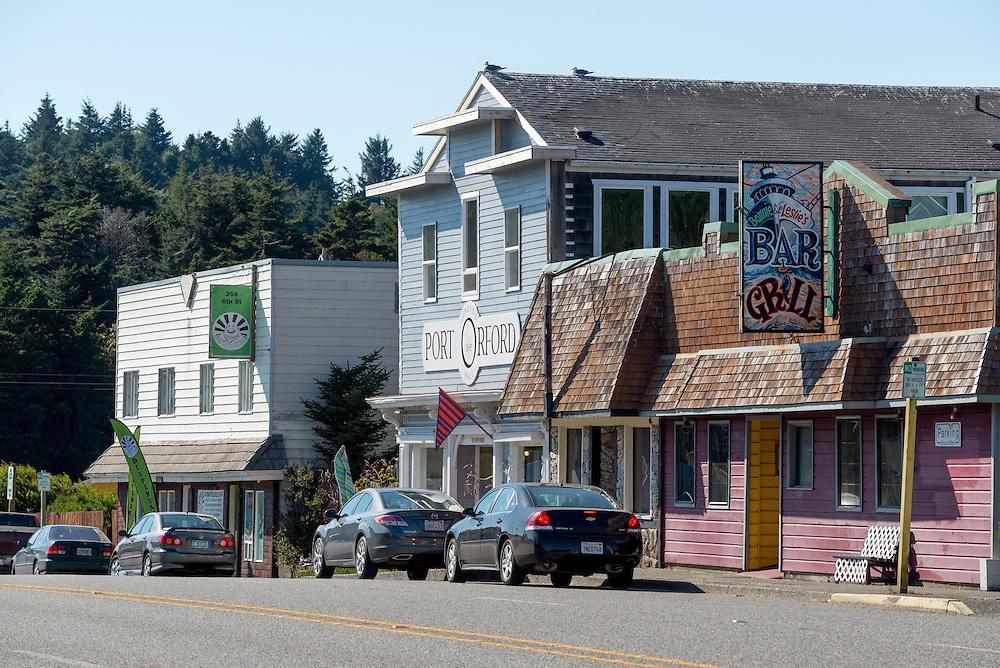 Downtown Port Orford, Oregon.