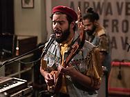 Kamal Rasool of British psychedelic-rock band Flamingods at Iceland Airwaves