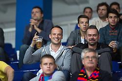 Fans drinking beer during KHL League ice hockey match between KHL Medvescak Zagreb and CSKA Moscow, on September 18, 2014 in Dvorana Sportova, Zagreb, Croatia. (Photo By Matic Klansek Velej / Sportida)