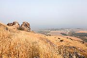 Israel, Golan Heights Overlooking the sea of Galilee