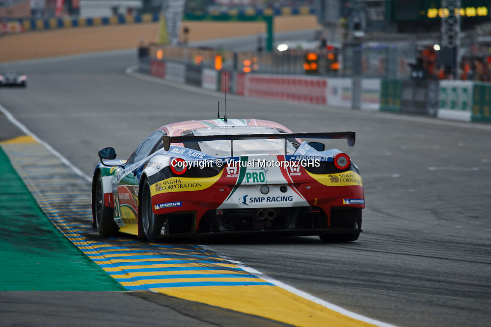 #51, Ferrari 458 Italia, AF Corse, Gianmaria Bruni, Giancarlo Fisichella, Tony Vilander, Le Mans 24H, 2015