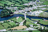 Aerial view, Belleek, Co Fermanagh, N Ireland, UK, 19790159c..Copyright Image from Victor Patterson, 54 Dorchester Park, Belfast, UK, BT9 6RJ..Tel: +44 28 9066 1296.Mob: +44 7802 353836.Voicemail +44 20 8816 7153.Skype: victorpattersonbelfast.Email: victorpatterson@me.com.Email: victorpatterson@ireland.com (back-up)..IMPORTANT: If you wish to use this image or any other of my images please go to www.victorpatterson.com and click on the Terms & Conditions. Then contact me by email or phone with the reference number(s) of the image(s) concerned.