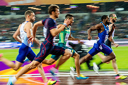 09-08-2017 IAAF World Championships Athletics day 6, London<br /> Daniel Talbot GBR, Wayde van Niekerk RSA, Ameer Webb USA, Ramil Guliyev TUR, Christophe Lemaitre FRA 200m