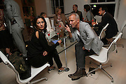 Aysil Sari and Aba Resch, Party hosted by Sir Richard and Lady Ruth Rogers at their house in Chelsea  to celebrate the extraordinary achievement of completing this year's Pavilion  by Olafur Eliasson and Kjetil Thorsenat at the Serpentine.  13 September 2007. -DO NOT ARCHIVE-© Copyright Photograph by Dafydd Jones. 248 Clapham Rd. London SW9 0PZ. Tel 0207 820 0771. www.dafjones.com.