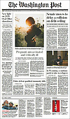 October 08, 2021 - USA: Front-page: Today's Newspapers In United States