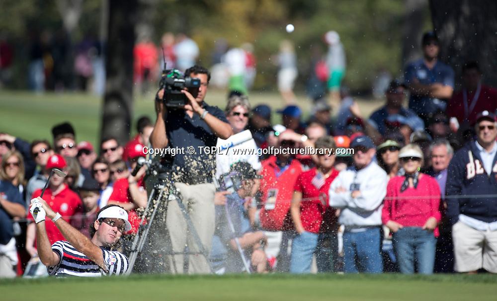 Bubba WATSON (USA) during final day Singles,Ryder Cup Matches,Medinah CC,<br /> Medinah,Illinois,USA.