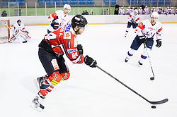Andre Lakos of Austria during Friendly Ice-hockey match between National teams of Slovenia and Austria on April 19, 2013 in Ice Arena Tabor, Maribor, Slovenia.  Slovenia defeated Austria 5-2. (Photo By Vid Ponikvar / Sportida)