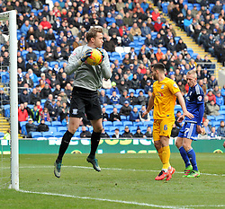 Anders Lindegaard of Preston North End in action during the Sky Bet Championship match between Cardiff City and Preston North End at Cardiff City Stadium on 27 February 2016 in Cardiff, Wales - Mandatory by-line: Paul Knight/JMP - Mobile: 07966 386802 - 27/02/2016 -  FOOTBALL - Cardiff City Stadium - Cardiff, Wales -  Cardiff City v Preston North End - Sky Bet Championship