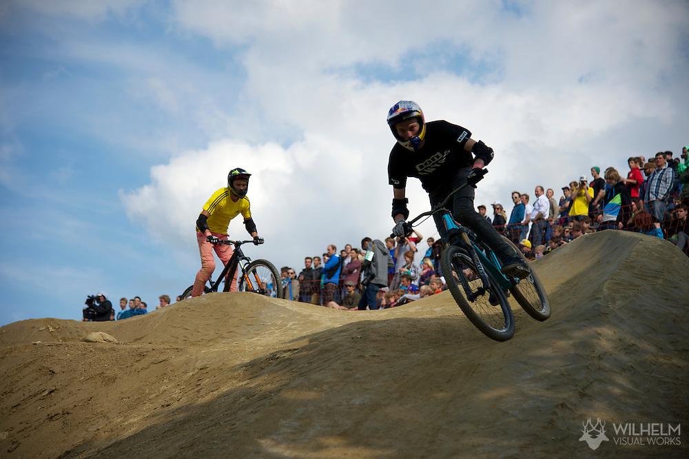 Thomas Genon during Mountain Bike Slopestyle Finals at the 2013 X Games Munich in Munich, Germany. ©Brett Wilhelm/ESPN